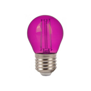 Λάμπα LED E27 G45 Filament 2W Ροζ γυαλί SKU 7410