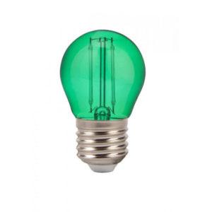 Λάμπα LED E27 G45 Filament 2W Πράσινο γυαλί