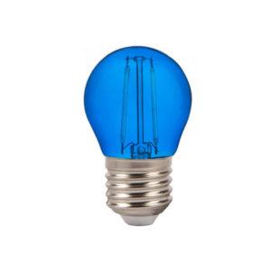 Λάμπα LED E27 G45 Filament 2W Μπλε γυαλί SKU 7412
