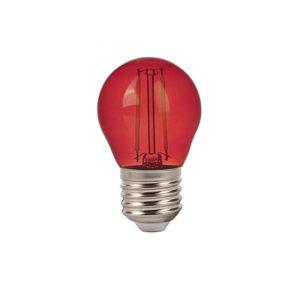Λάμπα LED E27 G45 Filament 2W Κόκκινο γυαλί