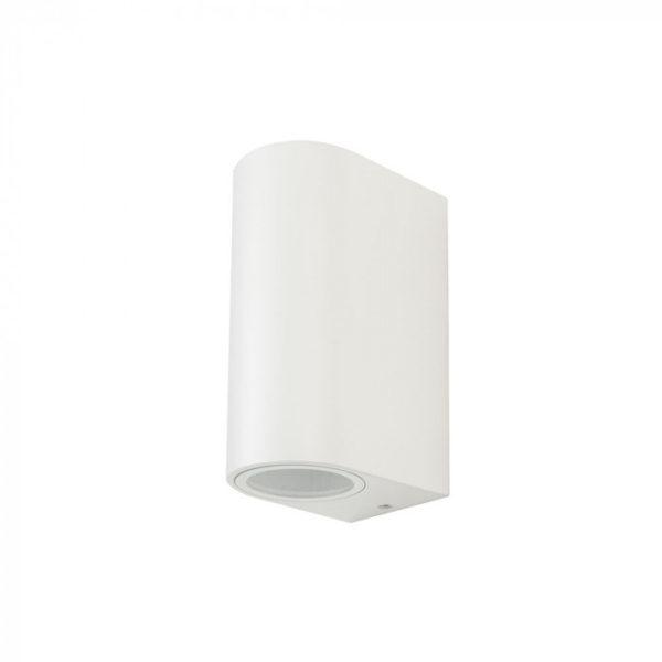 Εξωτερικό επιτοίχιο φωτιστικό 2 x GU10 Στρογγυλό Λευκό σώμα