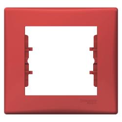 Sedna πλαίσιο 1 θέσης Κόκκινο