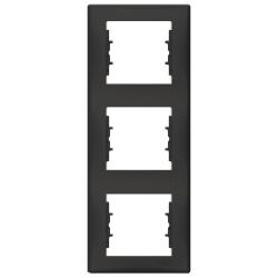 Sedna πλαίσιο 3 θέσεων κάθετο Γκρι σχιστόλιθος