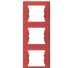 Sedna πλαίσιο 3 θέσεων κάθετο Κόκκινο