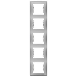 Sedna πλαίσιο 5 θέσεων κάθετο Αλουμίνιο
