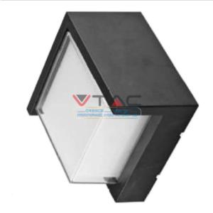 Expand LED αδιάβροχη απλίκα 12W IP65 3000K Θερμό λευκό Μαύρο σώμα τετράγωνη