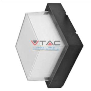 Expand LED αδιάβροχη απλίκα 12W IP65 4000K Φυσικό λευκό Μαύρο σώμα τετράγωνη