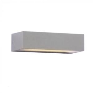 LED αδιάβροχη απλίκα 9W Up-Down IP65 3000K Θερμό λευκό Γκρι σώμα