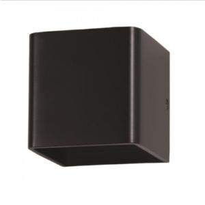 LED επιτοίχιο φωτιστικό 5W Τετράγωνο Μαύρο σώμα 3000K Θερμό λευκό