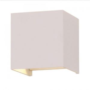 LED επιτοίχιο φωτιστικό 6W Τετράγωνο Λευκό σώμα 4000K Φυσικό λευκό