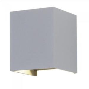 LED επιτοίχιο φωτιστικό 12W Τετράγωνο Γκρι σώμα 3000K Θερμό λευκό Bridgelux chip