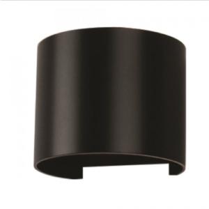 Expand LED επιτοίχιο φωτιστικό 6W Στρογγυλό Μαύρο σώμα 4000K Φυσικό λευκό
