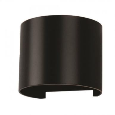 LED επιτοίχιο φωτιστικό 6W Στρογγυλό Μαύρο σώμα 3000K Θερμό λευκό