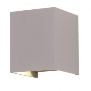 LED επιτοίχιο φωτιστικό 6W Τετράγωνο Γκρι σώμα 4000K Φυσικό λευκό