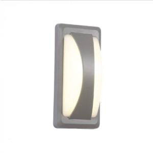 Expand LED αδιάβροχη απλίκα 12W Bulkhead IP65 4000K Φυσικό λευκό Γκρι σώμα