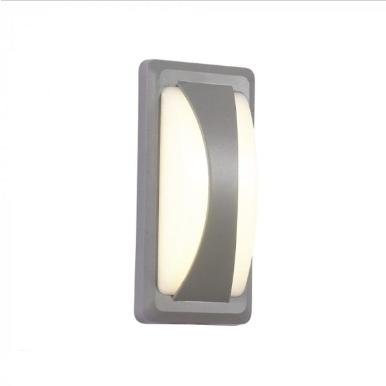 LED αδιάβροχη απλίκα 12W Bulkhead IP65 3000K Θερμό λευκό Γκρι σώμα