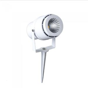 LED αδιάβροχο φωτιστικό καρφί 12W IP65 3000K Θερμό λευκό με λευκό σώμα