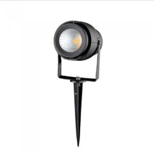 LED αδιάβροχο φωτιστικό καρφί 12W IP65 3000K Θερμό λευκό με μαύρο σώμα