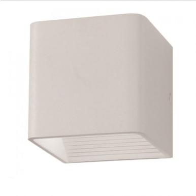 LED επιτοίχιο φωτιστικό 5W Τετράγωνο Λευκό σώμα 3000K Θερμό λευκό