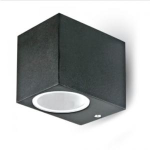 Εξωτερικό επιτοίχιο φωτιστικό GU10 Τετράγωνο Μαύρο σώμα