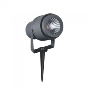 LED αδιάβροχο φωτιστικό καρφί 12W IP65 3000K Θερμό λευκό με γκρι σώμα