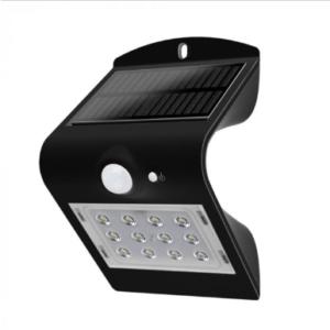 LED ηλιακό φωτιστικό 1.5W 4000K Φυσικό λευκό με μαύρο σώμα
