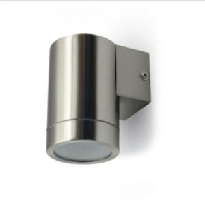 Εξωτερικό επιτοίχιο φωτιστικό GU10 Στρογγυλό Stainless Steel Brush σώμα
