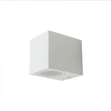 Εξωτερικό επιτοίχιο φωτιστικό GU10 Τετράγωνο Λευκό σώμα