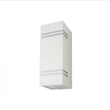 Εξωτερικό επιτοίχιο φωτιστικό 2 x GU10 Τετράγωνο Λευκό σώμα