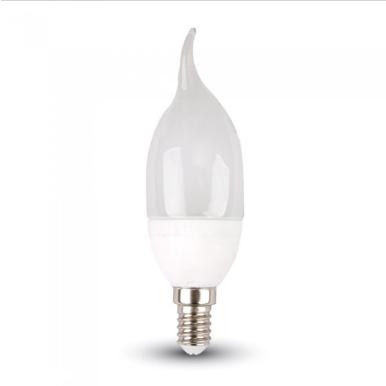 Λάμπα LED E14 Κερί φλόγα SMD 4W Θερμό λευκό 3000K Λευκό