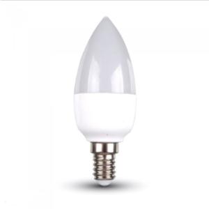 Λάμπα LED E14 Κερί SMD 6W Θερμό λευκό 3000K Λευκό Dimmable