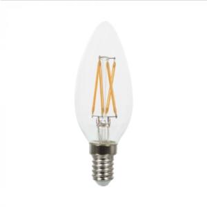 Λάμπα LED E14 Κερί Cross Filament 4W Λευκό 6400K Γυαλί διάφανο