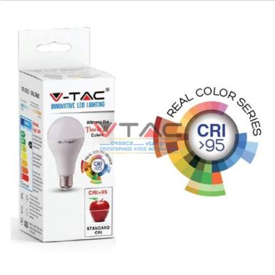 Λάμπα LED E27 A60 SMD 10W Φυσικό λευκό 4000K CRI>95