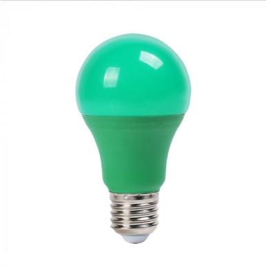 Λάμπα LED E27 A60 SMD 9W Πράσινη