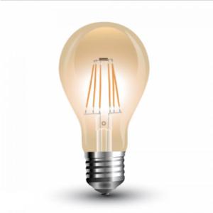 Λάμπα LED E27 A60 Filament 4W Θερμό λευκό 2200K Γυαλί amber