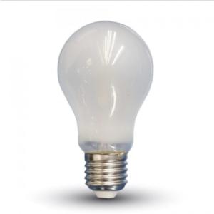 Λάμπα LED E27 A60 Filament 4W Θερμό λευκό 2700K Γυαλί λευκό