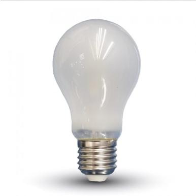 Λάμπα LED E27 A60 Filament 4W Λευκό 6400K Γυαλί λευκό
