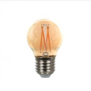 Λάμπα LED E27 G45 Cross Filament 4W Θερμό λευκό 2200K Γυαλί amber