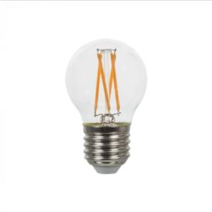 Λάμπα LED E27 G45 Cross Filament 4W Θερμό λευκό 2700K Γυαλί διάφανο