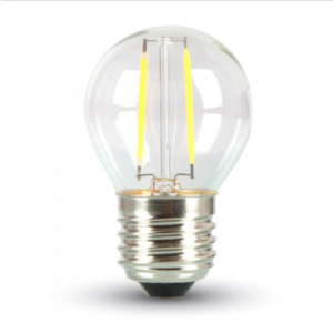 Λάμπα LED E27 G45 Filament 4W Θερμό λευκό 2700K Γυαλί διάφανο