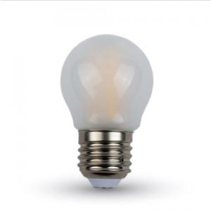 Λάμπα LED E27 G45 Filament 4W Θερμό λευκό 2700K Frost Cover