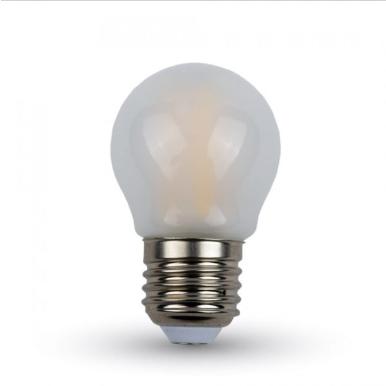 Λάμπα LED E27 G45 Filament 4W Λευκό 6400K Frost Cover