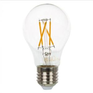 Λάμπα LED E27 A60 Cross Filament 4W Θερμό λευκό 2700K Γυαλί διάφανο Dimmable