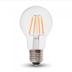 Λάμπα LED E27 A60 Filament 4W Θερμό λευκό 2700K Γυαλί διάφανο Dimmable