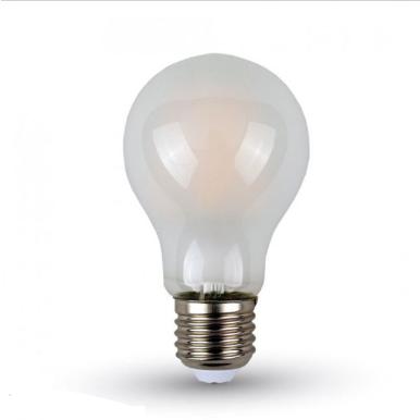 Λάμπα LED E27 A60 Filament 6W Λευκό 6400K Frost Cover
