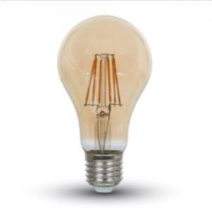 Λάμπα LED E27 A67 Filament 10W Θερμό λευκό 2200K Γυαλί amber