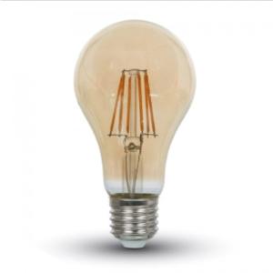 Λάμπα LED E27 A67 Filament 8W Θερμό λευκό 2200K Γυαλί amber