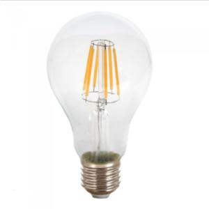 Λάμπα LED E27 A67 Filament 8W Θερμό λευκό 2700K Γυαλί διάφανο