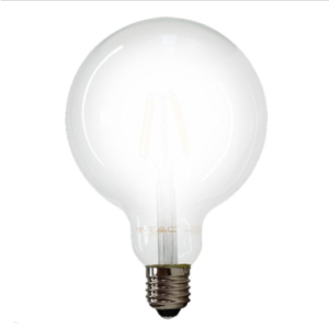 Λάμπα LED E27 G125 Filament 7W Θερμό λευκό 2700K Frost Cover