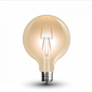 Λάμπα LED E27 G80 Filament 4W Θερμό λευκό 2200K Γυαλί amber